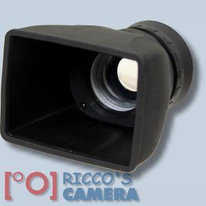 Matin Displaylupe 2-fach Vergrösserung für Monitore bis 8,13 cm (3,2 Zoll) Lichtschacht Displaysucher - 1