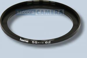Filteradapter 55 - 62 mm ( Objektiv 55mm / Filter 62mm ) - Step Up Ring Anschlussring Adapterring Hama 15562
