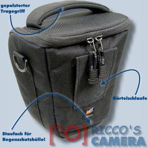 Dörr Halfter-Fototasche Classic M Colt-Tasche für Systemkameras oder DSLR-Kamera Kameratasche mit Regenschutzhülle Bereitschafts - 1