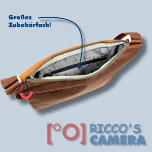 Dörr URBAN Medium Design Fototasche in braun orange moderne Kameratasche mit extra Tabletfach Notebook-Tasche dumo - 3