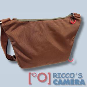 Fototasche für Sony Alpha A6500 A6300 A5100 A3000 - Kameratasche in braun orange mit extra Tabletfach Notebook-Tasche dumo - 1