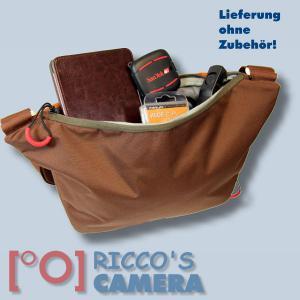 Fototasche für Sony Alpha A6500 A6300 A5100 A3000 - Kameratasche in braun orange mit extra Tabletfach Notebook-Tasche dumo - 4