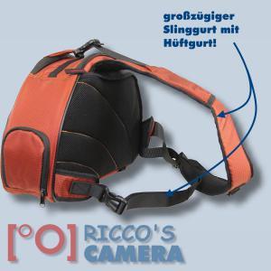 Genesis Metro Fototasche in orange Kameratasche in einzigartigem Design Tasche für DSLR-Kameras Systemkameras inkl. Regenschutzh - 1