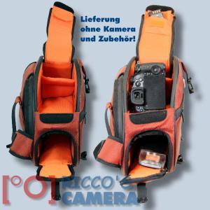Genesis Metro Fototasche in orange Kameratasche in einzigartigem Design Tasche für DSLR-Kameras Systemkameras inkl. Regenschutzh - 2