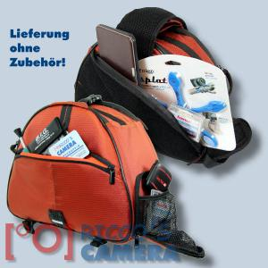 Genesis Metro Fototasche in orange Kameratasche in einzigartigem Design Tasche für DSLR-Kameras Systemkameras inkl. Regenschutzh - 3