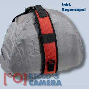 Genesis Metro Fototasche in orange Kameratasche in einzigartigem Design Tasche für DSLR-Kameras Systemkameras inkl. Regenschutzh - 4