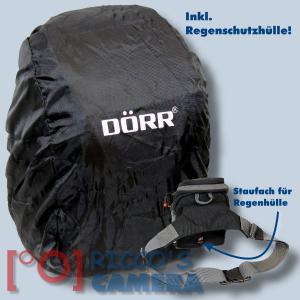 Dörr No-Limit Hüfttasche schwarz Fototasche für kompakte Digitalkamera Systemkamera Tasche mit Regenhülle und Bauchgurt hnls - 2