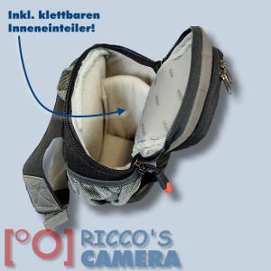 Dörr No-Limit Hüfttasche schwarz Fototasche für kompakte Digitalkamera Systemkamera Tasche mit Regenhülle und Bauchgurt hnls - 3