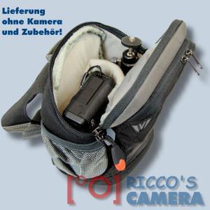 Dörr No-Limit Hüfttasche schwarz Fototasche für kompakte Digitalkamera Systemkamera Tasche mit Regenhülle und Bauchgurt hnls - 4