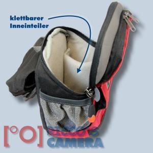 Dörr No-Limit Hüfttasche rot Fototasche für kompakte Digitalkamera Systemkamera Tasche mit Regenhülle und Bauchgurt hnlr - 3