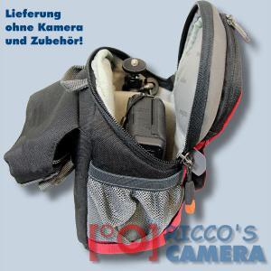 Dörr No-Limit Hüfttasche rot Fototasche für kompakte Digitalkamera Systemkamera Tasche mit Regenhülle und Bauchgurt hnlr - 4