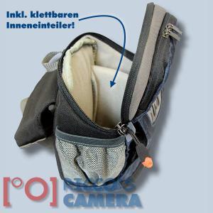 Hüfttasche für Nikon 1 J5 J4 J3 J2 J1 V3 V1 S1 - Kameratasche mit Bauchgurt Fototasche mit Regenhülle Tasche dunkelblau hnlb - 3