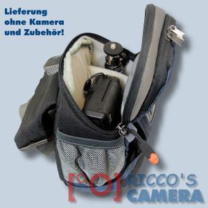 Hüfttasche für Nikon 1 J5 J4 J3 J2 J1 V3 V1 S1 - Kameratasche mit Bauchgurt Fototasche mit Regenhülle Tasche dunkelblau hnlb - 4