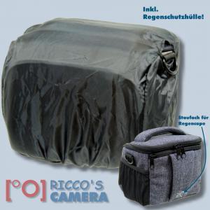 Braun Alpe M Denim Kameratasche für Systemkameras Bridgekamera Fototasche in blau Tasche mit Regencape bamd - 2