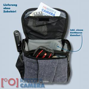 Braun Alpe M Denim Kameratasche für Systemkameras Bridgekamera Fototasche in blau Tasche mit Regencape bamd - 3