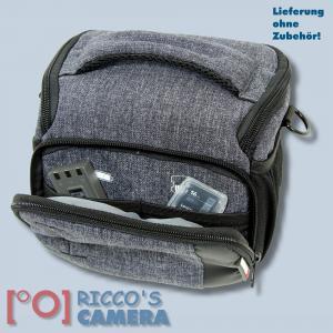 Braun Alpe M Denim Kameratasche für Systemkameras Bridgekamera Fototasche in blau Tasche mit Regencape bamd - 4