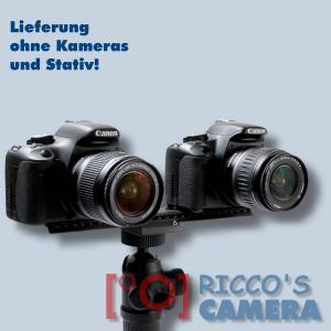 Quenox/Fotomate LP-02 Makro-Einstellschlitten (Makroschlitten, Kameraschlitten, Fotoschlitten, Makroschiene) - Verstellweg 24cm - 2