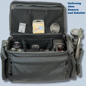 Dörr Action Black No.6 Kameratasche mit Platz für Zubehör - Fototasche für Spiegelreflexkamera Bridgekamera Systemkamera no6 - 3