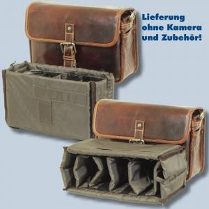 Leder Fototasche Alpenleder Presse Brandy echt Leder Tasche in braun für Systemkameras Evilkameras Kameratasche lal - 2