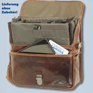 Leder Fototasche Alpenleder Presse Brandy echt Leder Tasche in braun für Systemkameras Evilkameras Kameratasche lal - 3