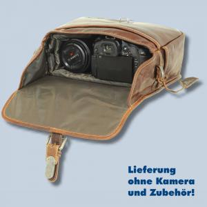 Leder Fototasche Alpenleder Presse Brandy echt Leder Tasche in braun für Systemkameras Evilkameras Kameratasche lal - 4