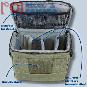 Kameratasche für Nikon Z7 Z6 Z 7 Z 6 - Fototasche in oliv Tasche Bag grün dmmo - 2