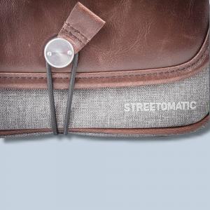 Cosyspeed Kameratasche mit Hüftgürtel Camslinger Streetomatic+ Fototasche für System- und DSLR-Kameras + Zoomobjektiv braun-grau - 4