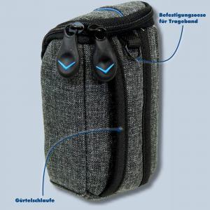 Dörr Kameratasche City Pro S Fototasche grau / blau Tasche für kompakte Digitalkameras - 1