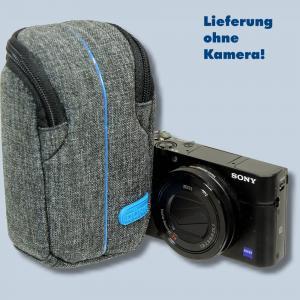 Dörr Kameratasche City Pro S Fototasche grau / blau Tasche für kompakte Digitalkameras - 4