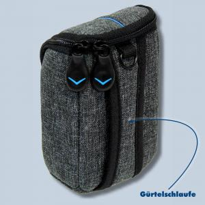 Dörr Kameratasche City Pro M Fototasche grau / blau Tasche für digitale Kompaktkameras - 1