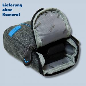 Dörr Kameratasche City Pro M Fototasche grau / blau Tasche für digitale Kompaktkameras - 3