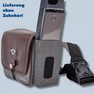 Cosyspeed Kameratasche mit Hüftgürtel Camslinger Streetomatic+ Fototasche für System- und DSLR-Kameras + Zoomobjektiv braun-grau - 2