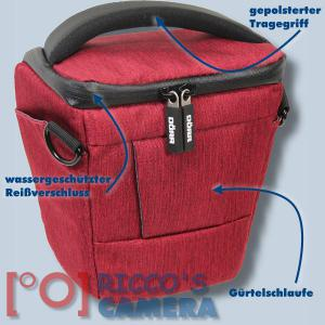 Dörr Halfter-Fototasche Motion S in rot Colt Kameratasche für Systemkamera Bridgekamera und kleine DSLR Kamera Holster Tasche hm - 1
