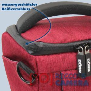 Dörr Halfter-Fototasche Motion S in rot Colt Kameratasche für Systemkamera Bridgekamera und kleine DSLR Kamera Holster Tasche hm - 2
