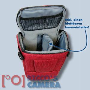 Dörr Halfter-Fototasche Motion S in rot Colt Kameratasche für Systemkamera Bridgekamera und kleine DSLR Kamera Holster Tasche hm - 3