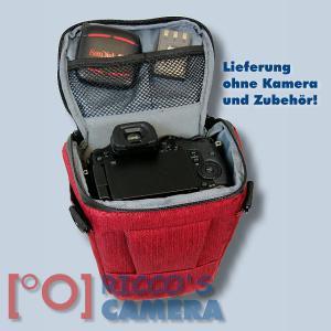 Dörr Halfter-Fototasche Motion S in rot Colt Kameratasche für Systemkamera Bridgekamera und kleine DSLR Kamera Holster Tasche hm - 4