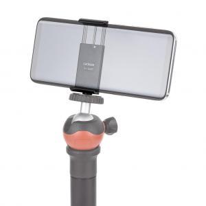 Smartphone-Halter Handyhalterung für Stativ mit 1/4-Zoll Stativgewinde für Smartphones mit 65-80mm Breite aus Aluminium - 4