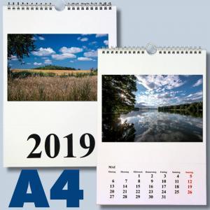 Fotokalender für 2018 zum selbst gestalten - DIN A4 schwarz/weiss Foto Bastelkalender - 1