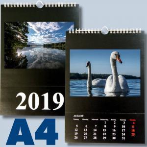 Fotokalender für 2020 zum selbst gestalten - DIN A4 schwarz/weiss Foto Bastelkalender - 2