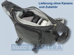 Tasche für Sony Alpha 290 390 350 300 200 700 100 Sony DSC-H50 DSC-H10 H7 H9 - Fototasche ORAPA K-21 K 21 Canvas schwarz k21b - 4