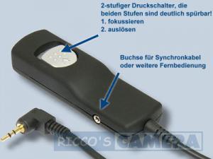 Fernauslöser mit 0,8 m Kabellänge wie Canon RS-60E3 NoName Kabel-Fernauslöser für Canon PowerShot G3 X SX60 HS G1 X Mark II G16 - 1