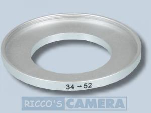 Filteradapter 34 - 52 mm ( Objektiv 34mm / Filter 52mm ) - Step Up Ring Anschlussring Adapterring