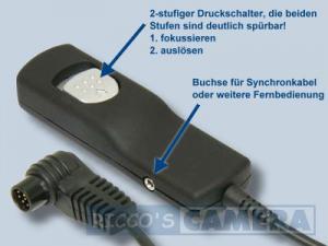 Fernauslöser mit 3,0 m Kabellänge für Kodak wie MC-30 NoName Kabel-Fernauslöser Kokak DCS Pro ( Fernbedienung MC30 MC 30 ) Adidt - 1