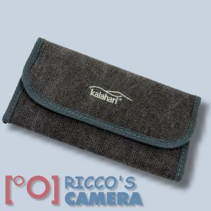 Kalahari Filter-Etui K-91 canvas-black Filter Tasche Filter Case schwarz mit extra Reinigungstuch - 1