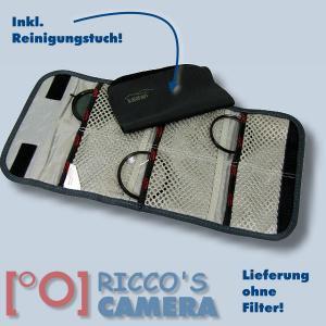 Kalahari Filter-Etui K-91 canvas-black Filter Tasche Filter Case schwarz mit extra Reinigungstuch - 2