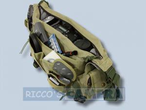 wasserdichte Tasche für Nikon D7500 D7200 D7100 D7000 D-7100 D-7000 - Kalahari Kapako K-31 Canvas khaki Kameratasche Regenschutz - 3