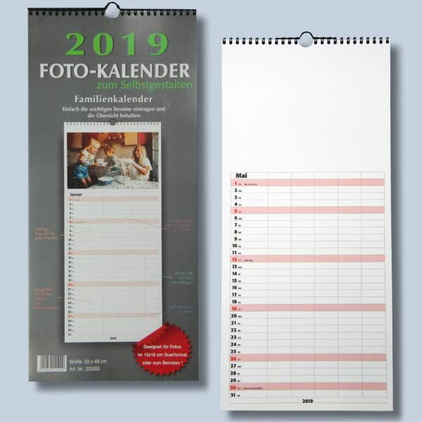 familienplaner bastelkalender 2019 f r fotos bis 13x18 zum selbst gestalten fotokalender foto. Black Bedroom Furniture Sets. Home Design Ideas