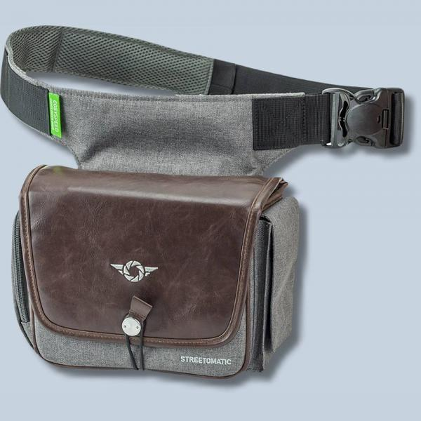 Cosyspeed Kameratasche mit Hüftgürtel Camslinger Streetomatic+ Fototasche  für System- und DSLR-Kameras + Zoomobjektiv braun-grau 022b1dc008
