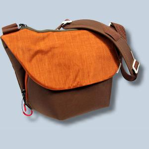 Dörr URBAN Medium Design Fototasche in braun orange moderne Kameratasche mit extra Tabletfach Notebook-Tasche dumo