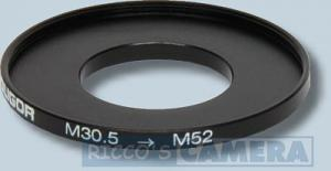 Filteradapter 30,5 - 52 mm ( Objektiv 30,5mm / Filter 52mm ) - Anschlussring Adapterring Step Up Ring Soligor 57975